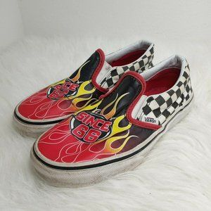 VANS Kids Canvas Sneakers Red 500714 Checkered Sin
